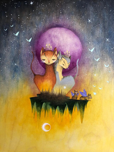 PURPLE MOON  by artist Malathip