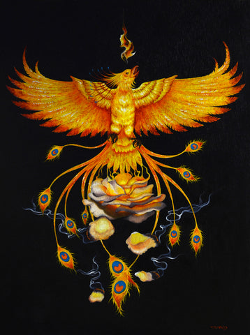 THE REBIRTH OF THE FLAME by artist Tania Pomales