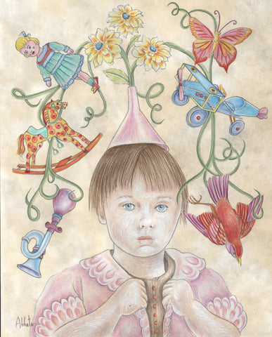 PORTRAIT OF THE ARTIST AS A LITTLE GIRL by artist Donna Abbate