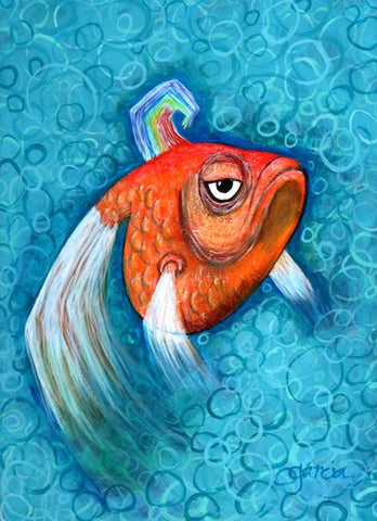 EL PESCADO (The Fish) AKA Proud Grumpy #50 by artist Rosie Garcia