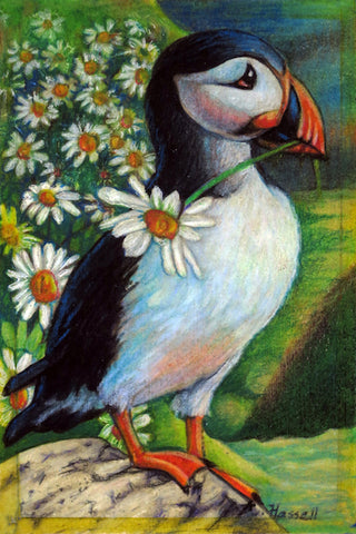 PUFFIN by artist Annette Hassell