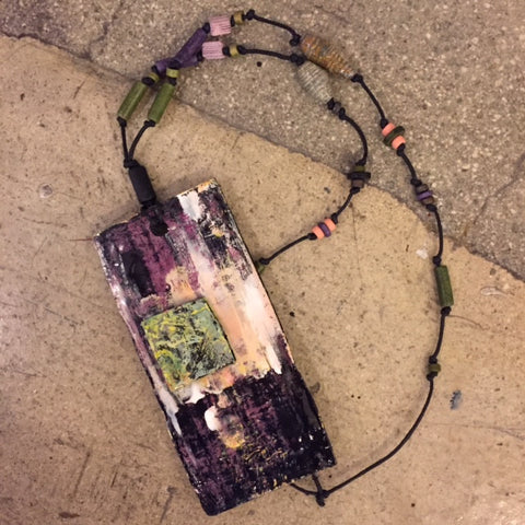 Purple/Green Necklace by artist Andrea Bogdan