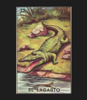#75 EL LAGARTO (The Alligator) by artist Janet Olenik