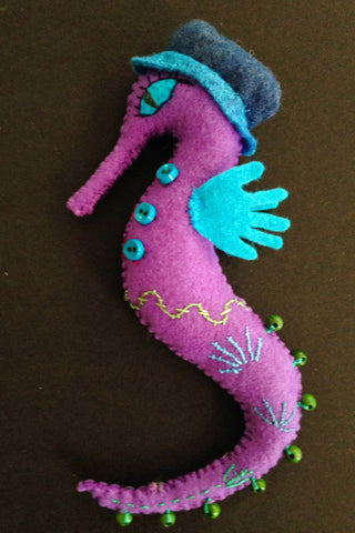 Seahorse Doll, Violet by artist Ulla Anobile