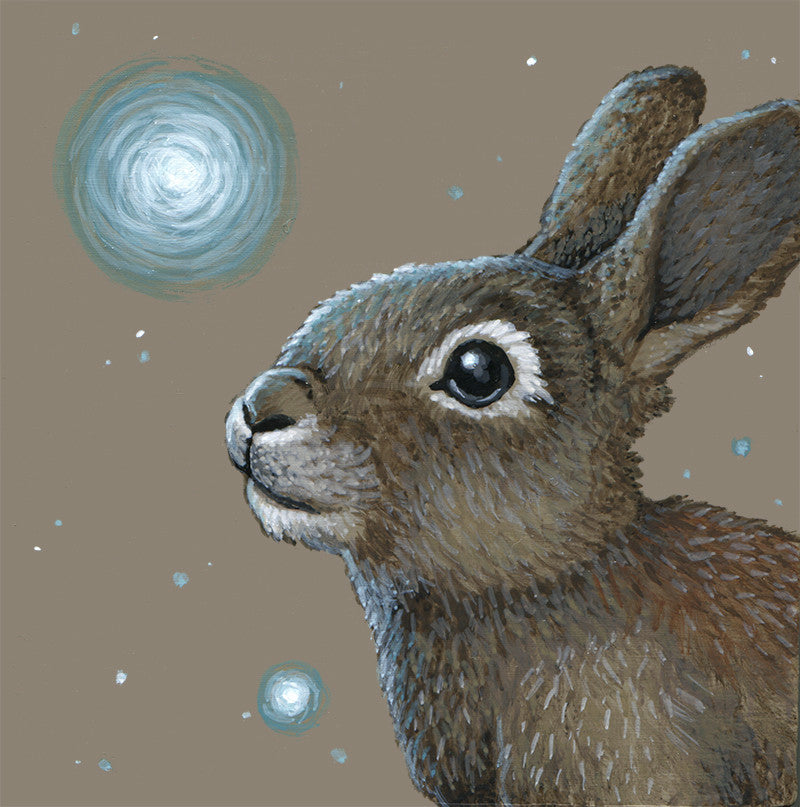 Spirit Rabbit by artist Lena Sayadian