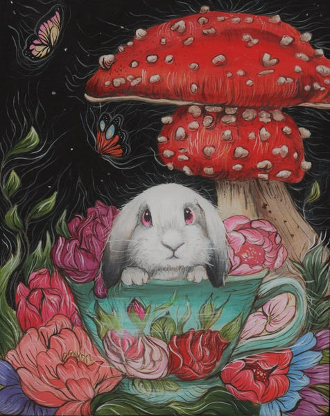 TEA TIME WITH LOP by artist Skye Becker-Yamakawa