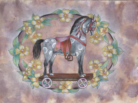 TOY HORSE by artist Donna Abbate