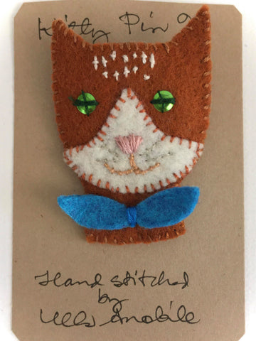 KITTY PIN #9 by artist Ulla Anobile