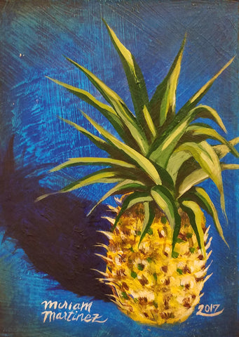 URBAN JUNGLE I (pineapple) by artist Miriam Martinez