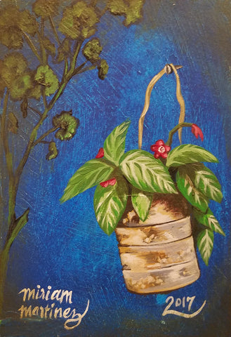 URBAN JUNGLE 2 (hanging pot) by artist Miriam Martinez