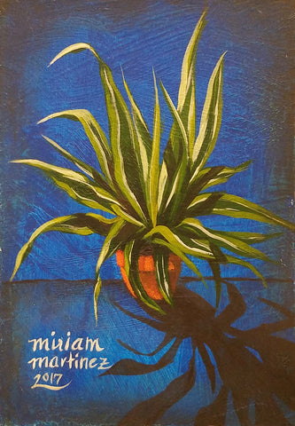 URBAN JUNGLE 4 (orange pot) by artist Miriam Martinez
