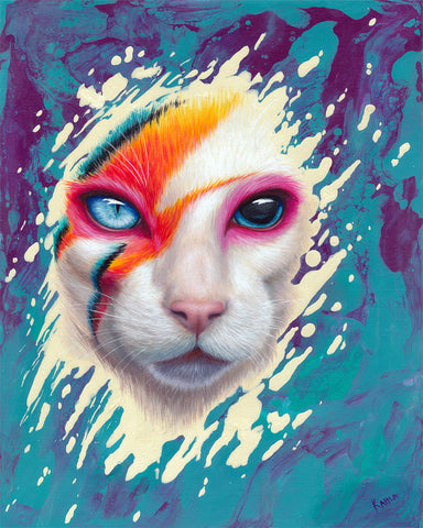 A CAT INSANE by artist Kahla Lewis