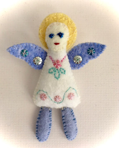 ANGEL DOLL PIN by artist Ulla Anobile
