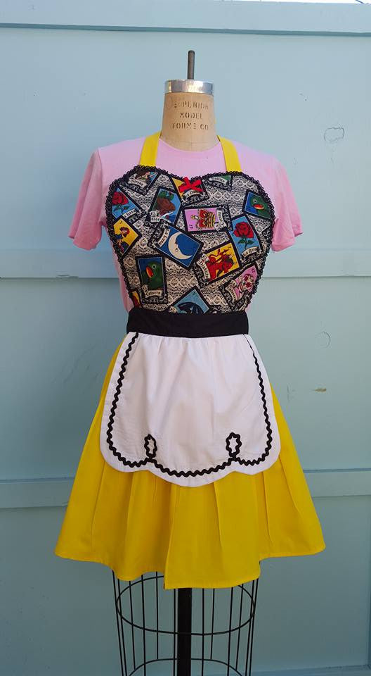 Loteria inspired aprons by Los Lover Dovers