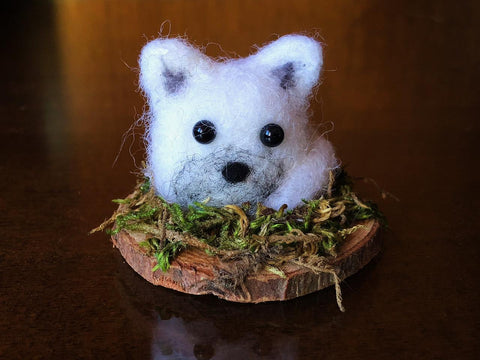 WEE ARCTIC FOX by artist Francesca Rizzato