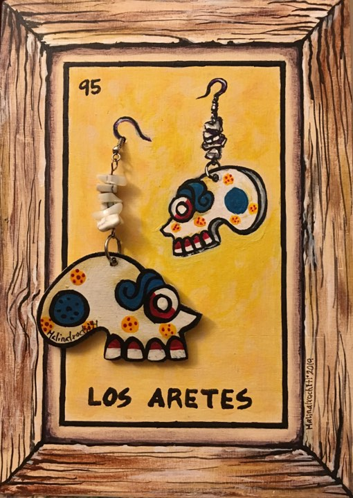 LOS ARETES (The Earrings) #95 by artist Gabriela Zapata