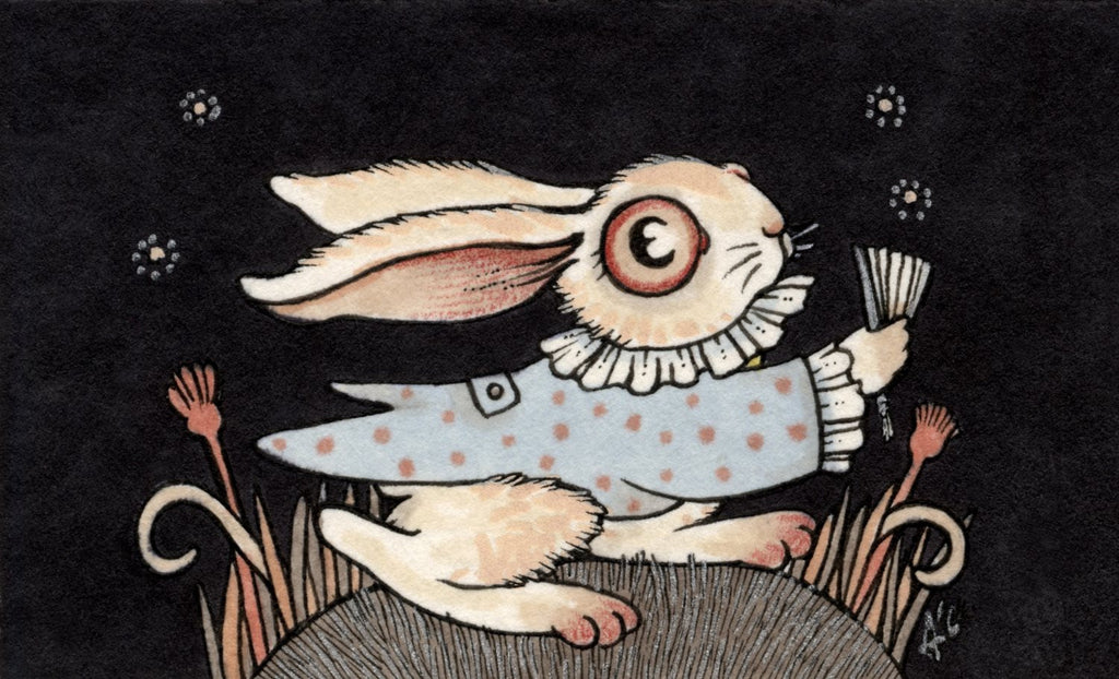 Ask the White Rabbit by artist Anita Inverarity