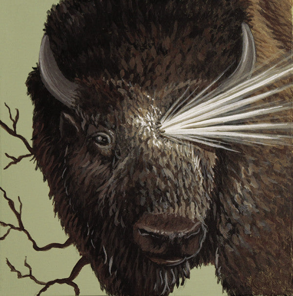 Beaming Bison by artist Lena Sayadian