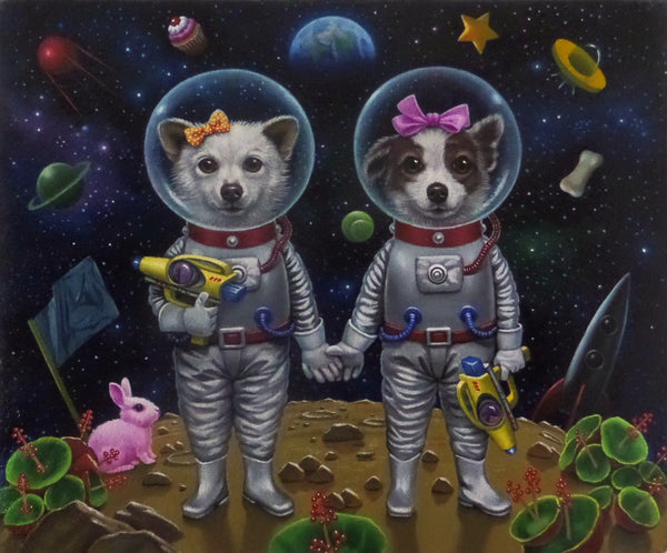 BELKA AND STRELKA'S PLAYGROUND by artist Olga Ponomarenko