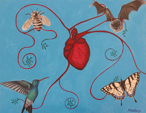Blessed are the Pollinators by artist Michelle Waters