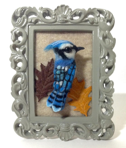 BLUEJAY BROOCH by artist Julie B