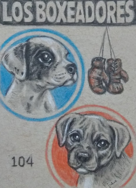 LOS BOXEADORES (The Boxers) #104 by artist Julie B