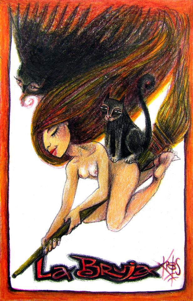 #90 LA BRUJA (The Witch) by artist Patricia Krebs