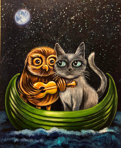 THE OWL AND THE PUSSYCAT by artist Christine Benjamin