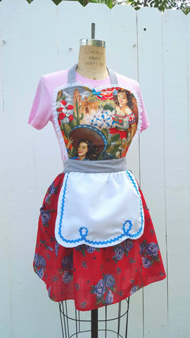 Cactus Girls Loteria inspired aprons by Los Lover Dovers