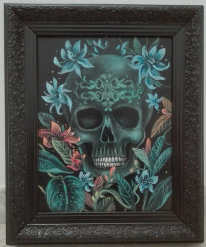 LA CALAVERA #42 (The Skull) by artist Ingrid Tusell