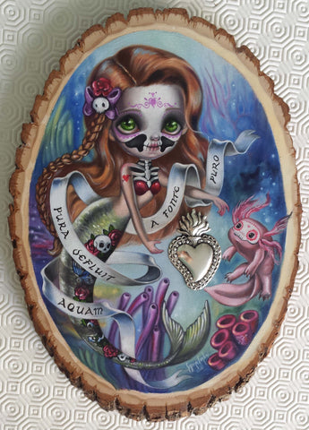 Calaveritas Mermaid by artist Simona Candini
