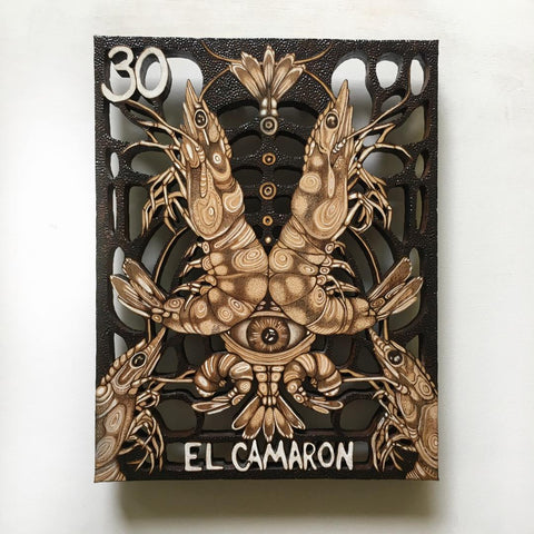 EL CAMARON (THE SHRIMP) #30 / The shrimp that sleeps... by artist Samantha Jane Mullen
