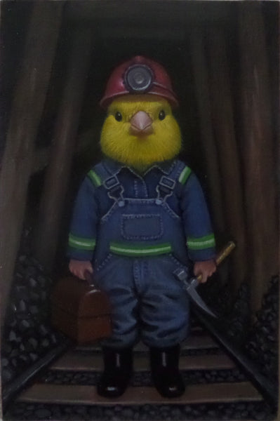 CANARY IN A COAL MINE by artist Olga Ponomarenko