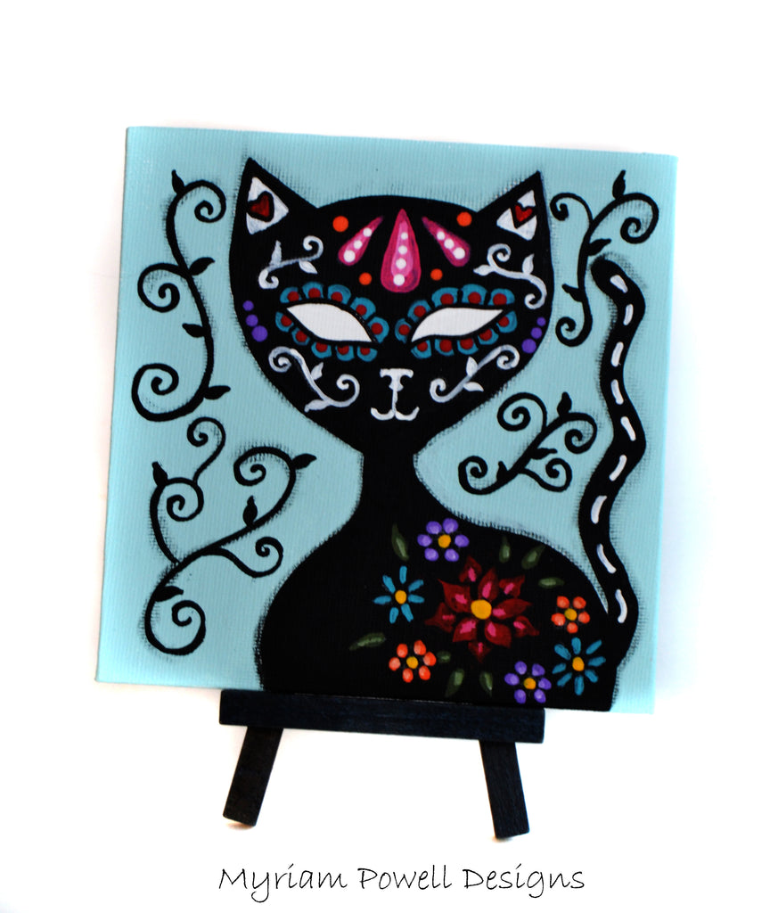 CAT CALAVERA by artist Myriam Powell