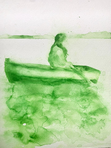 LA CHALUPA (The Canoe) #48 / THE WEEPING WOMAN by artist Brie Martinez