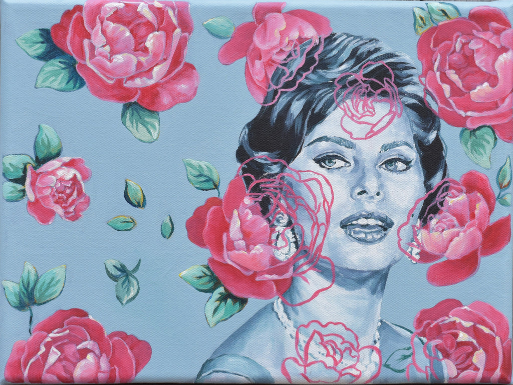 Classic Beauty Blended In Floral Wallpaper 2 By Artist Lydia Moon