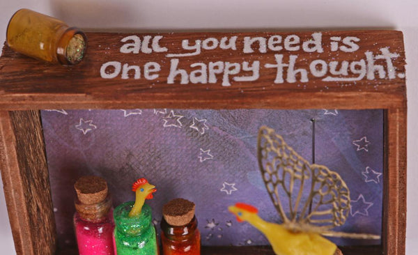 ONE HAPPY THOUGHT by artist Jen Raven