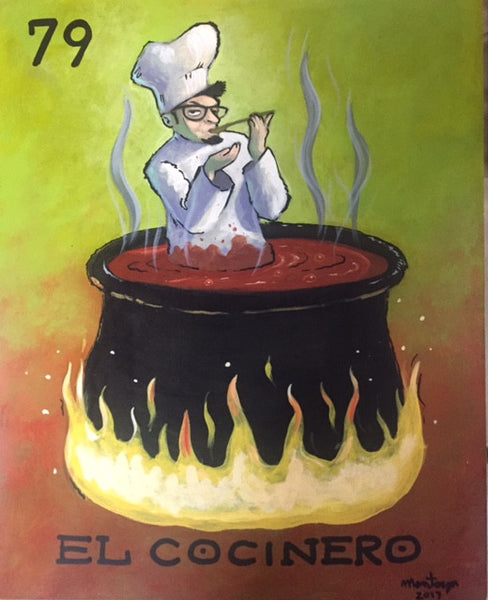 #79 EL COCINERO (The Chef) by artist Jerry Montoya