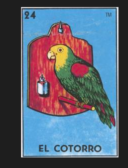 #24 EL COTORRO (The Parrot) by artist Yishu Wang