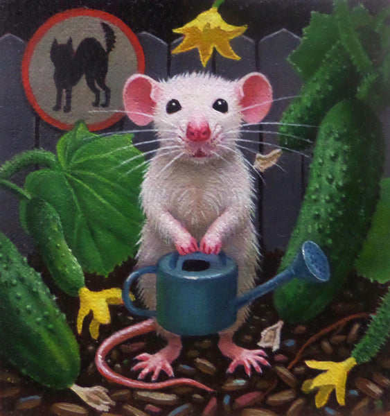 EVERY MOUSE NEEDS A CUCUMBER by artist Olga Ponomarenko
