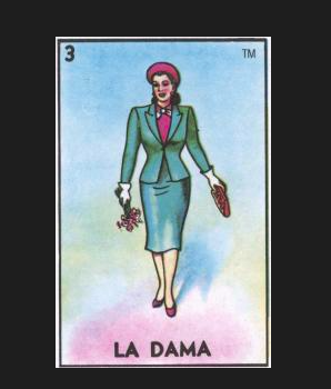 LA DAMA #3 (The Lady) ~ Yeah Yeah Yeah ~ by artist Kelly Thompson