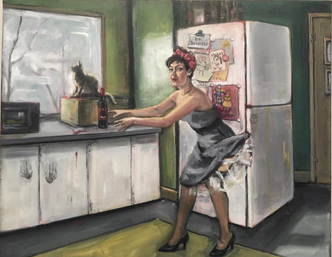 Domestically Dysfunctional Pin-Up, Determination by artist Nancy Cintron