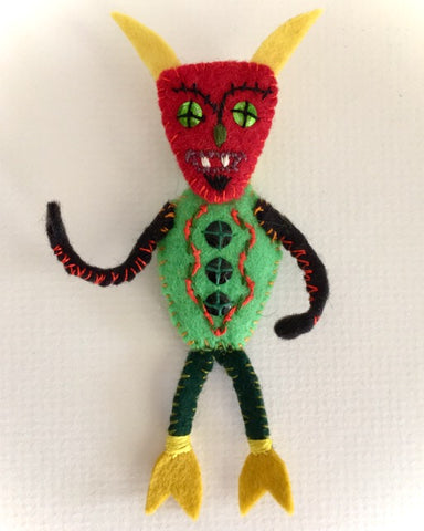 DEVIL DOLL PIN by artist Ulla Anobile