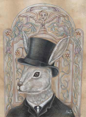 THE RABBIT UNDERTAKER by artist Donna Abbate