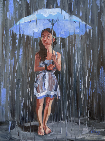 EL PARAGUAS (The Umbrella) #5 by artist Lacey Bryant