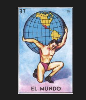 EL MUNDO #37 (The World) aka Volaré Lejos (I'll Fly Far) by artist Andrea Bogdan