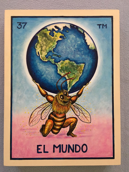 #37 EL MUNDO (The World) by artist Jerry Montoya