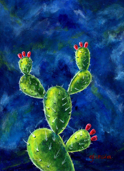 EL NOPAL #39 (The Prickly Pear Cactus) ~ I don't need your approval to exist ~ by artist Rosie Garcia