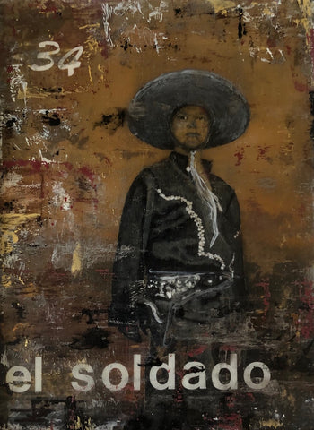 "EL SOLDADO (The Soldier) #34 / ""Donde deje mis chanclas!"" by artist Kelly Thompson"