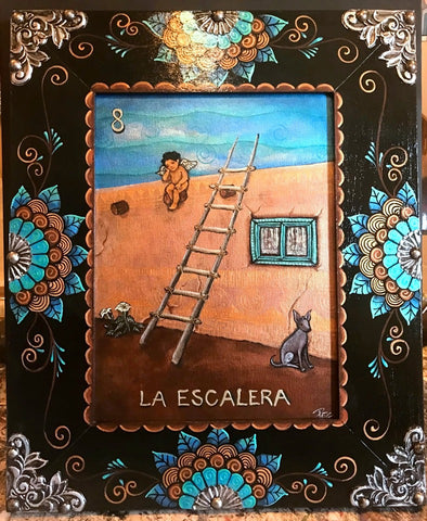 LA ESCALERA (The Ladder) #7 by artist Pamela Enriquez-Courts